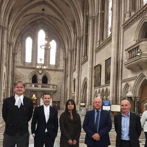 Left to Right: Robert Weir QC, Jonathan Butters, Harminder Bains, Graham Dring, Tony Whitston.