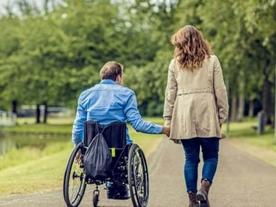 Disability Walk Couple