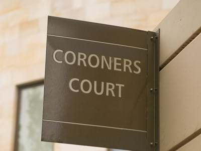 Coroners Court Sign Large