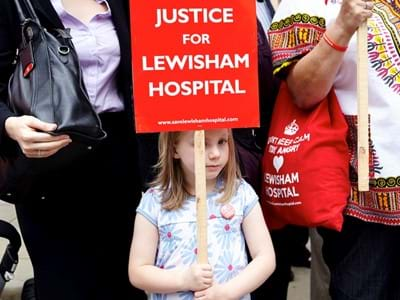 Lewisham Hosp Protest Simon Way